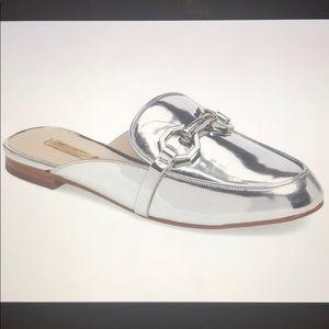 Louise Et Cie Silver Finay Loafer Slide